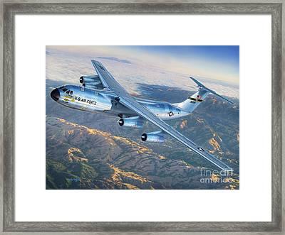 C-141 Starlifter The Golden Bear Framed Print by Stu Shepherd