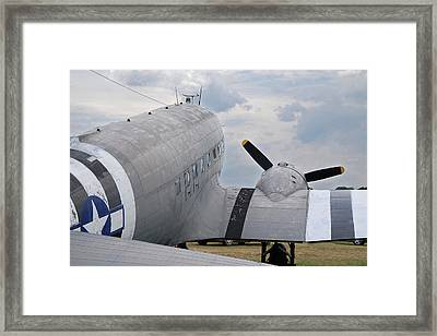 Framed Print featuring the photograph C-47 3880 by Guy Whiteley