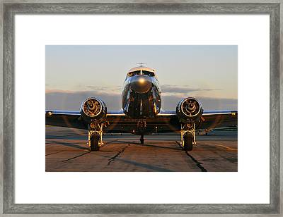 Framed Print featuring the photograph C-47 Skytrain by Dan Myers