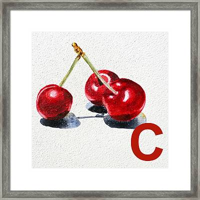 C Art Alphabet For Kids Room Framed Print by Irina Sztukowski