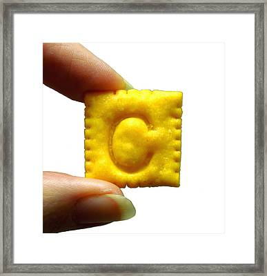 Framed Print featuring the photograph C For Cheese Cracker by Pete Trenholm
