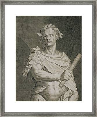 C. Julius Caesar Emperor Of Rome Framed Print by Titian