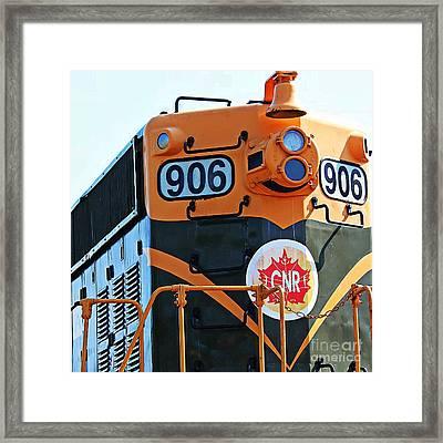 C N R Train 906 Framed Print by Barbara Griffin