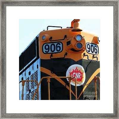 C N R Train 906 Rustic Framed Print by Barbara Griffin