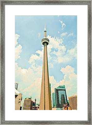 C N Tower Framed Print by BandC  Photography