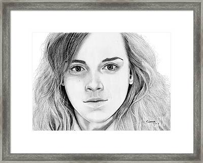 Hermione Granger Framed Print by Suranga Basnagala
