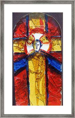 C01.  Producing Stained Glass Murals - Sample For Client Framed Print