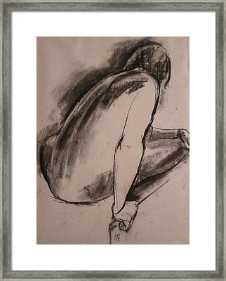 C04. Resting Framed Print