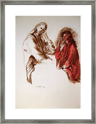 C07. A Quiet Chat Framed Print