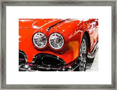 C1 Red Chevrolet Corvette Picture Framed Print by Paul Velgos