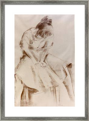 C12. Dancer Resting Framed Print