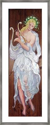 C14. Harpist Framed Print