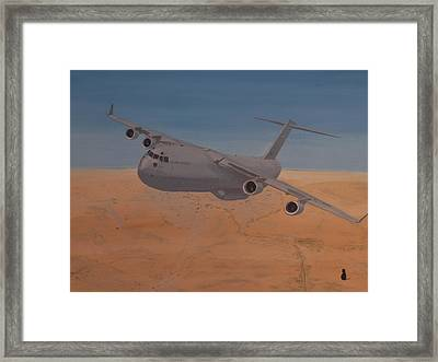 C17 Out Of Baghdad Framed Print by Jonathan Laverick