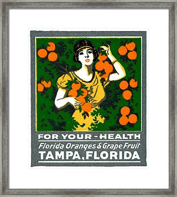 C.1920 Tampa For Your Health Framed Print by Historic Image