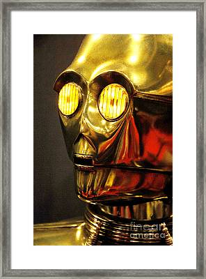 C3-po On Display Framed Print by Micah May