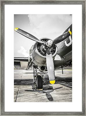 C47 Dakota Radial Framed Print