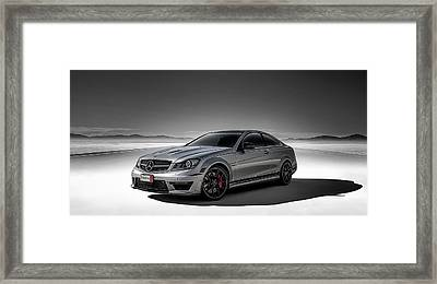 C63 Amg Framed Print by Douglas Pittman