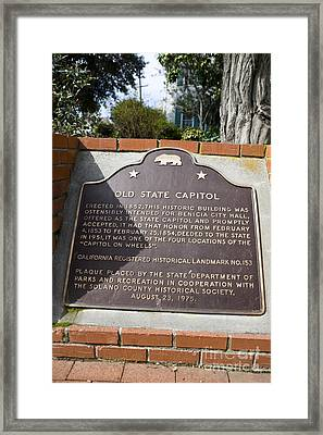 Ca-153 Old State Capitol Framed Print by Jason O Watson