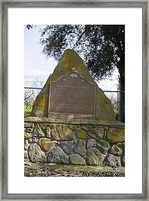 Ca-804 Wolfskill Grant Framed Print by Jason O Watson