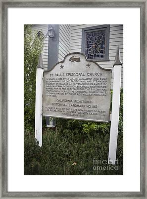 Ca-862 St. Pauls Episcopal Church Framed Print by Jason O Watson