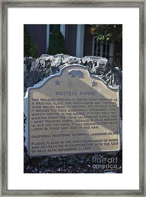 Ca-895 Hostess House Framed Print by Jason O Watson