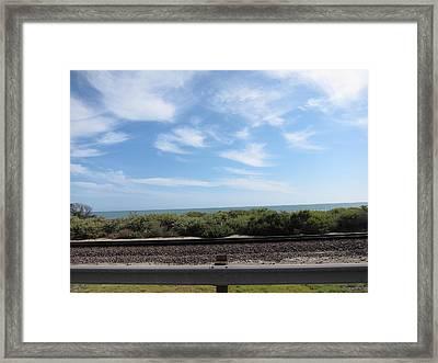 Ca Beach - 121212 Framed Print