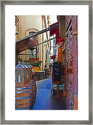 Ca De Vin Framed Print by Mamie Thornbrue