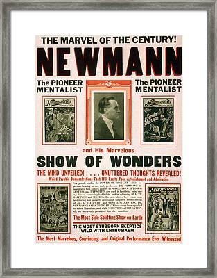 C.a. George Newmann, American Hypnotist Framed Print