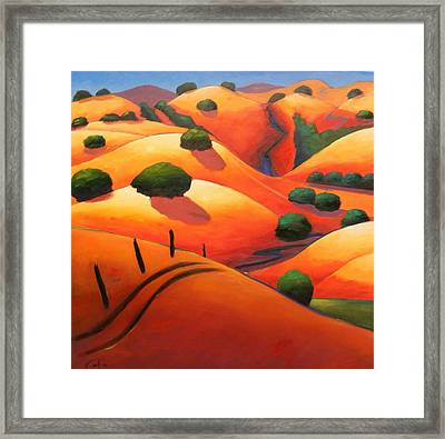 Ca Rollers Squared Framed Print