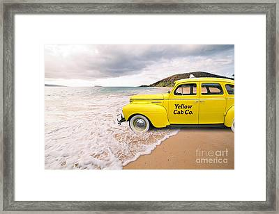 Cab Fare To Maui Framed Print