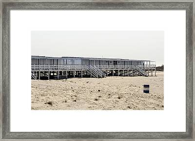 Cabanas Breezy Point Surf Club Framed Print