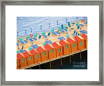 Cabanas Of Sorrento Framed Print by TK Goforth