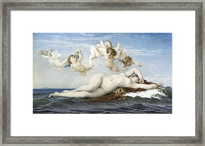 Cabanel, Alexandre 1823-1889. Birth Framed Print by Everett