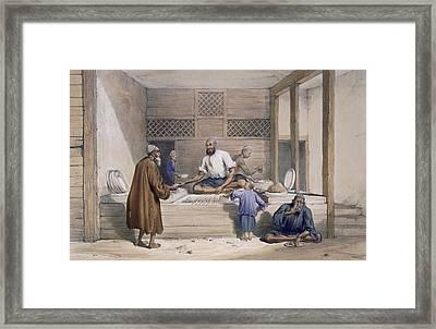 Cabaub Shop, Cabul, 1843 Framed Print by James Atkinson