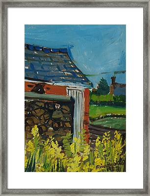 Cabbage Flowers In The Garden, 1983 Oil On Canvas Framed Print by Brenda Brin Booker