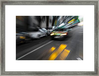 Cabbie Too Fast Framed Print by Scott Campbell