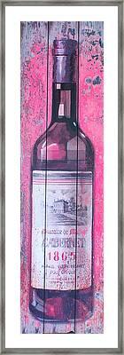 Cabernet 1865 Framed Print by Douglas Barnett