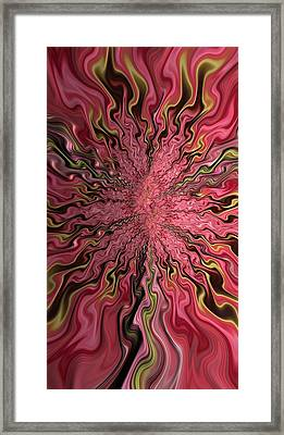 Cabernet Cork Fractal Framed Print by Bill Owen