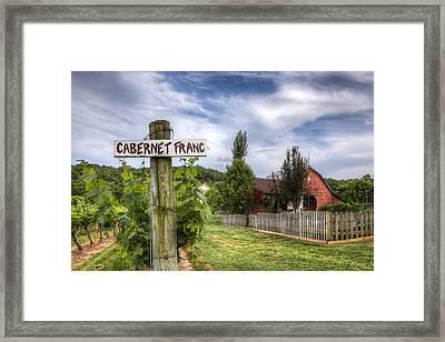 Cabernet Framed Print by Debra and Dave Vanderlaan