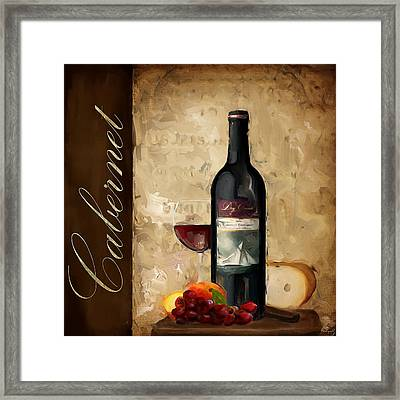 Cabernet IIi Framed Print by Lourry Legarde
