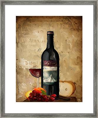 Cabernet Iv Framed Print by Lourry Legarde