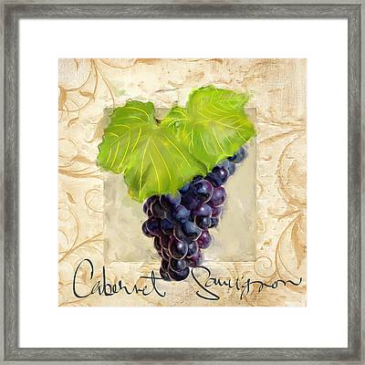 Cabernet Sauvignon Framed Print by Lourry Legarde