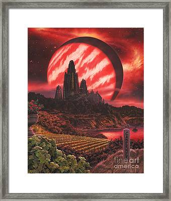 Cabernet Wine Country Fantasy Framed Print by Stu Shepherd