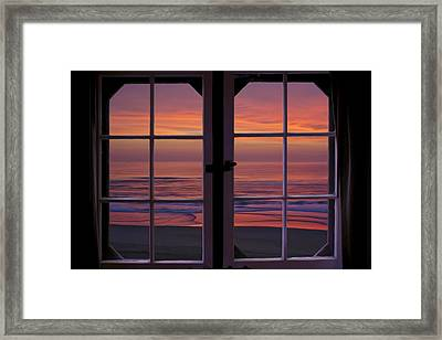 Cabin 11 At The Outer Banks Framed Print