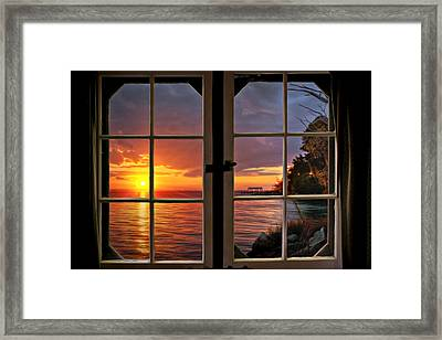 Cabin 11 On The James River Framed Print