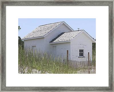 Cabin At Cape Lookout 2 Framed Print by Cathy Lindsey