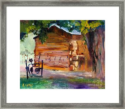 Lee's Cabin At Lonely Dell Ranch Framed Print by Bernard Marks