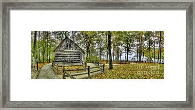 Cabin At Old Mission Lighthouse Framed Print