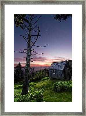 Cabin At The Top Framed Print