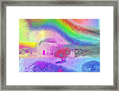 I Love My Cosy Little Cabin By The Sea Framed Print